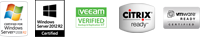 Certified on VMware, Citrix, Veeam, Windows 2008 Server, and Windows 2012 Server